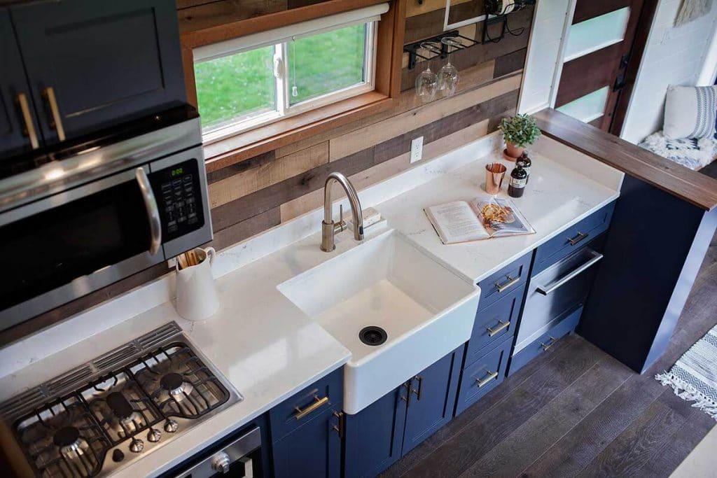 Breezeway tiny house kitchen sink
