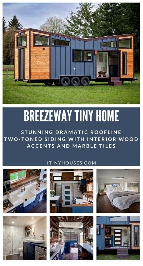 Breezeway tiny house collage