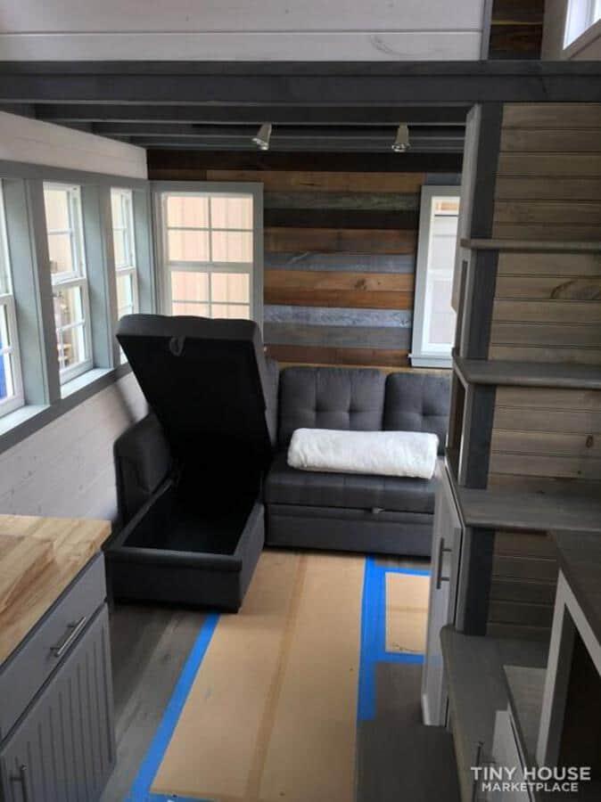 Sofa raised for storage
