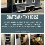 Craftsman tiny house collage