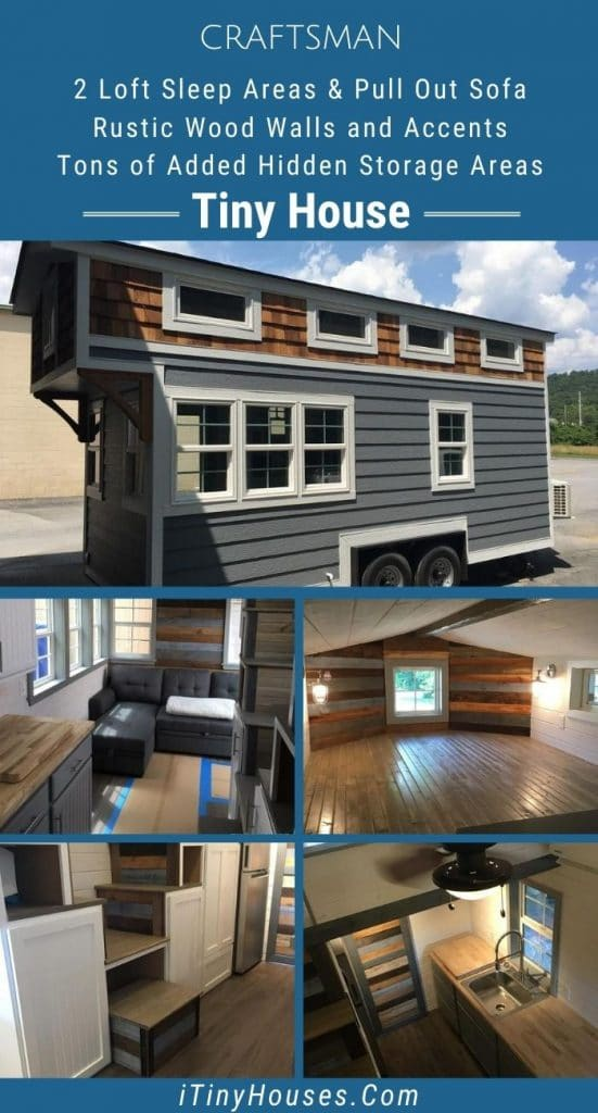 Craftsman tiny house collage