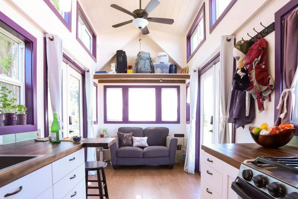 View of living room in tiny house