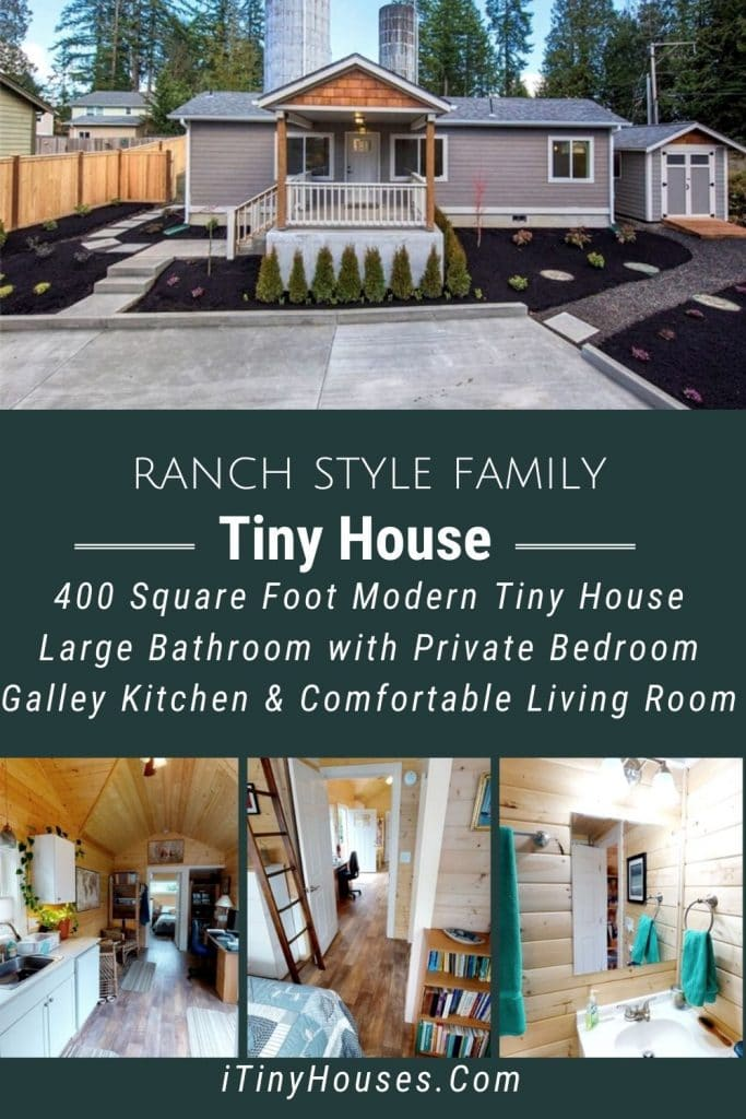 Ranch style family tiny house collage