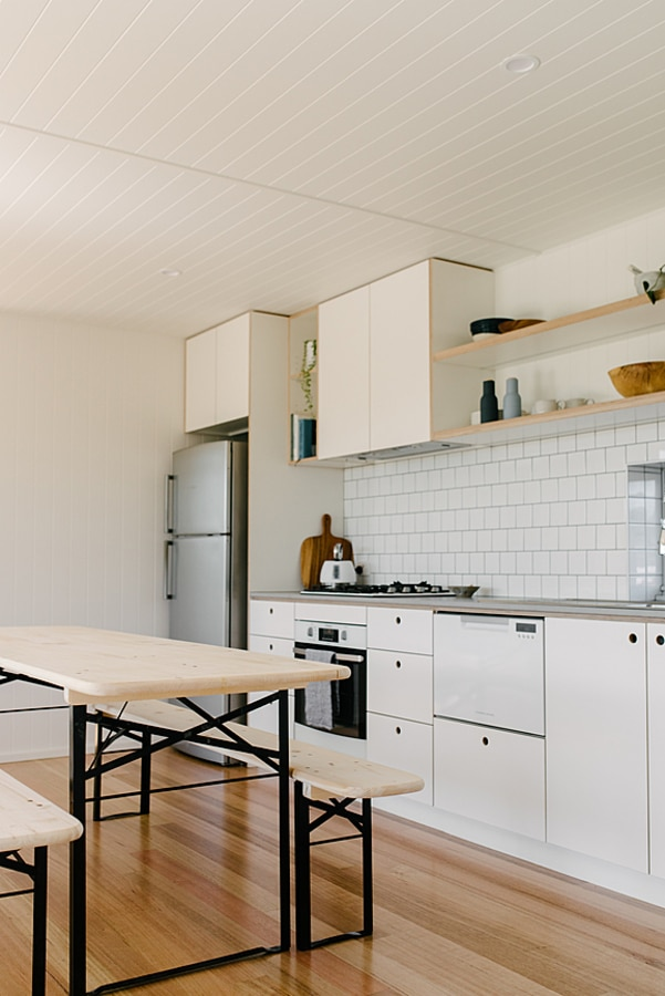 Tiny house white kitchen