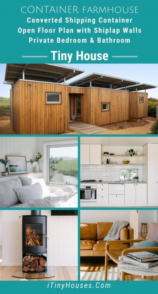 Container farmhouse collage
