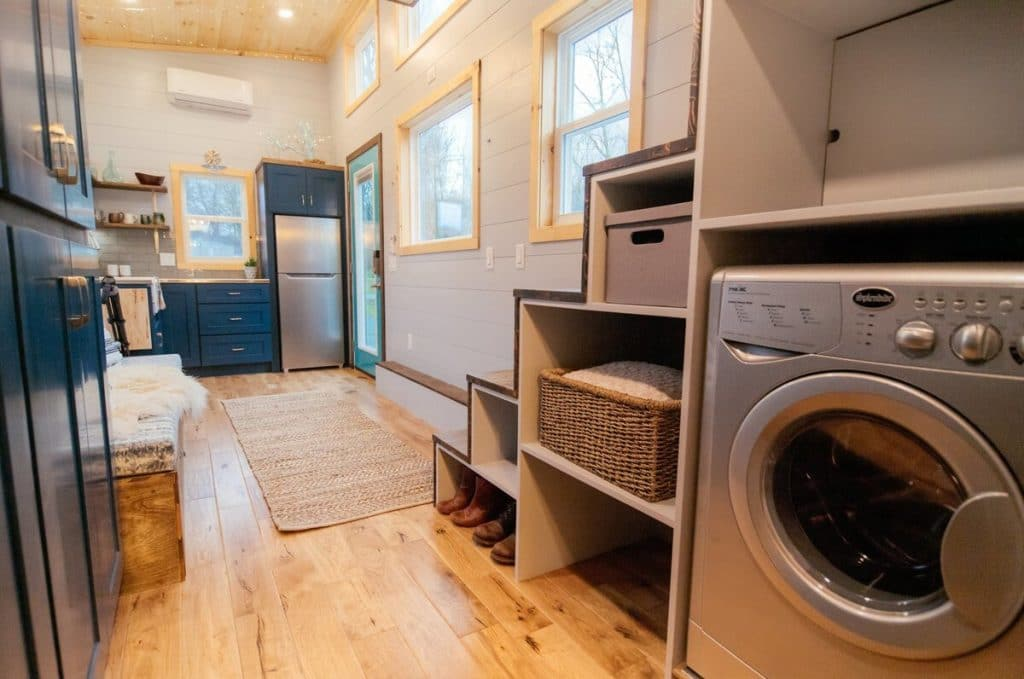 Laundry center in tiny house