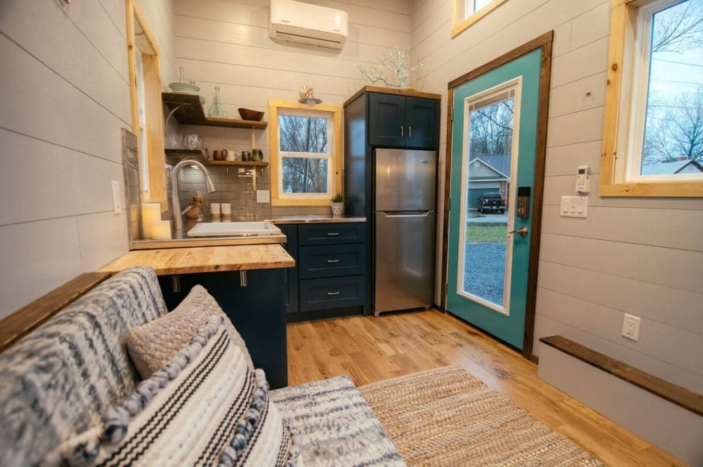 View of kitchen in tiny house