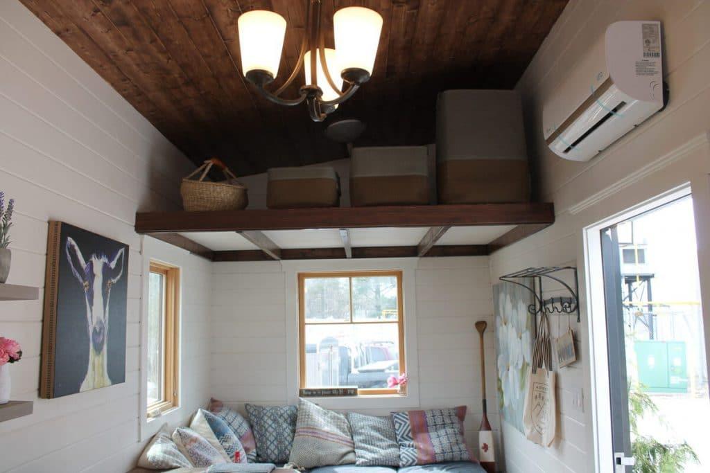 Storage loft above living area
