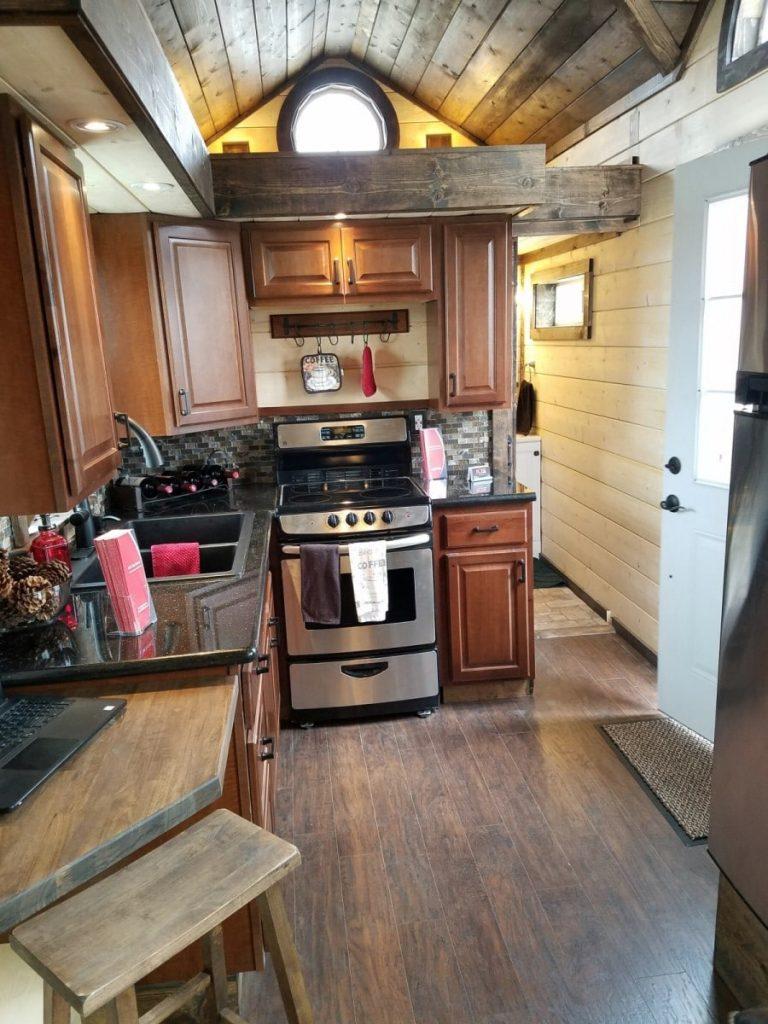 Rolling cabin kitchen