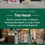 Rolling cabin tiny house collage