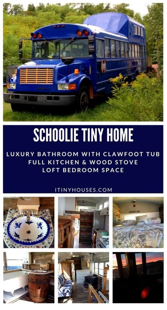 Schoolie tiny house collage