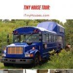 Schoolie tiny house collage