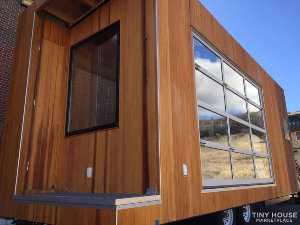 Deck on tiny house