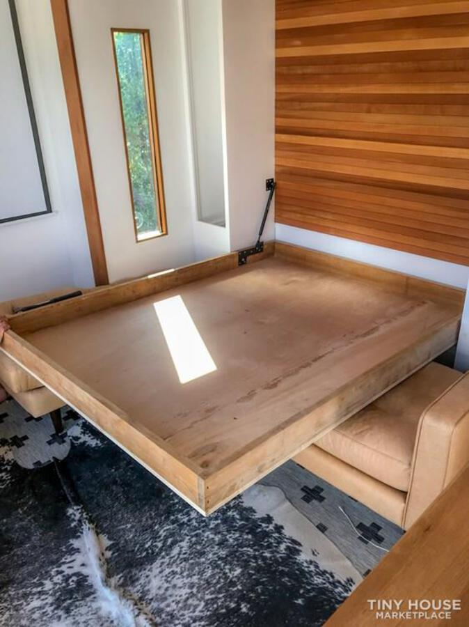 Fold down table of surf shack