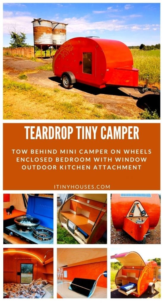 Teardrop camper collage