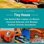 Teardrop camper collage