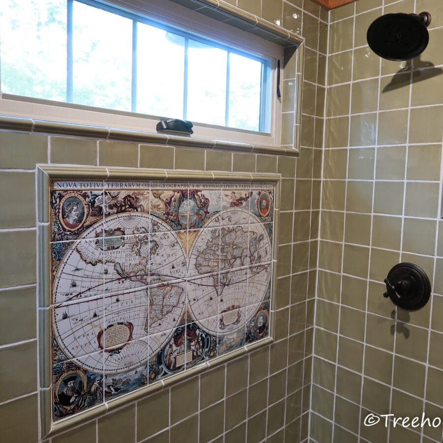 Map in shower