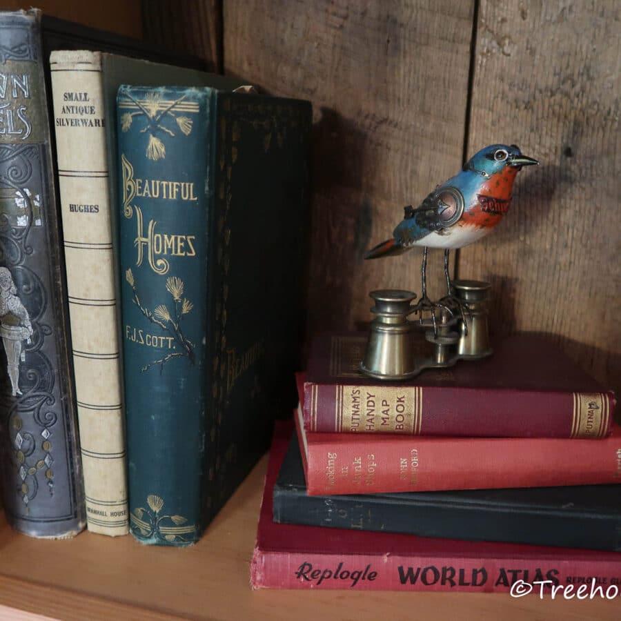 Stack of books on shelf