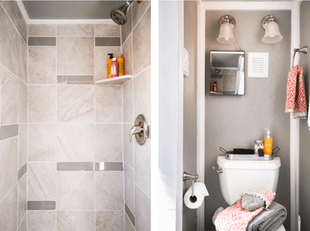 Spa bathroom in tiny house