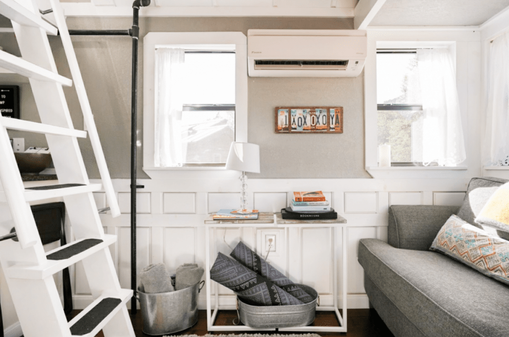 Living area shelves