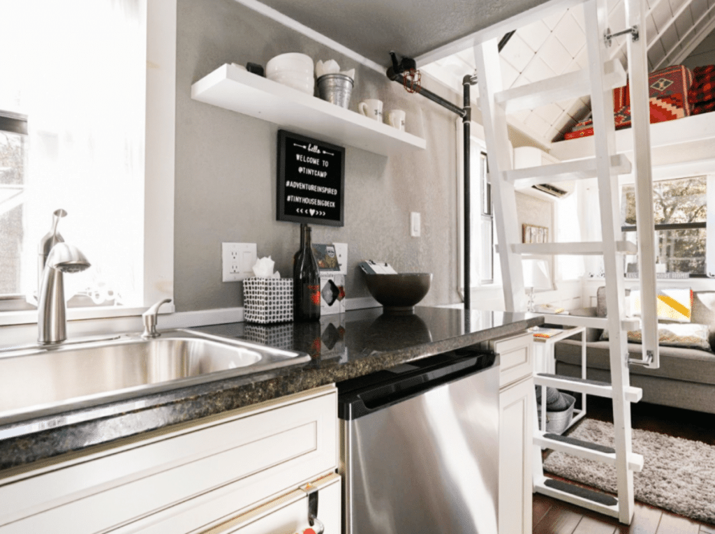 Dishwasher in tiny house