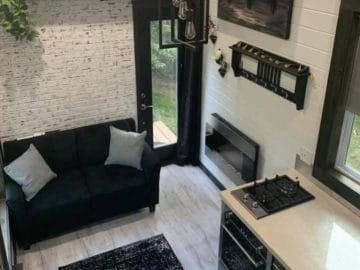 The Manhattan tiny house living room