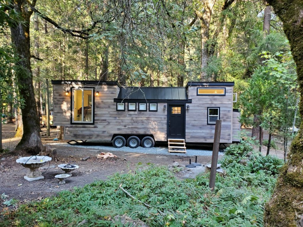 The Napa tiny house on wooded lot