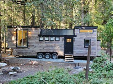 The Napa tiny house on wooded lot