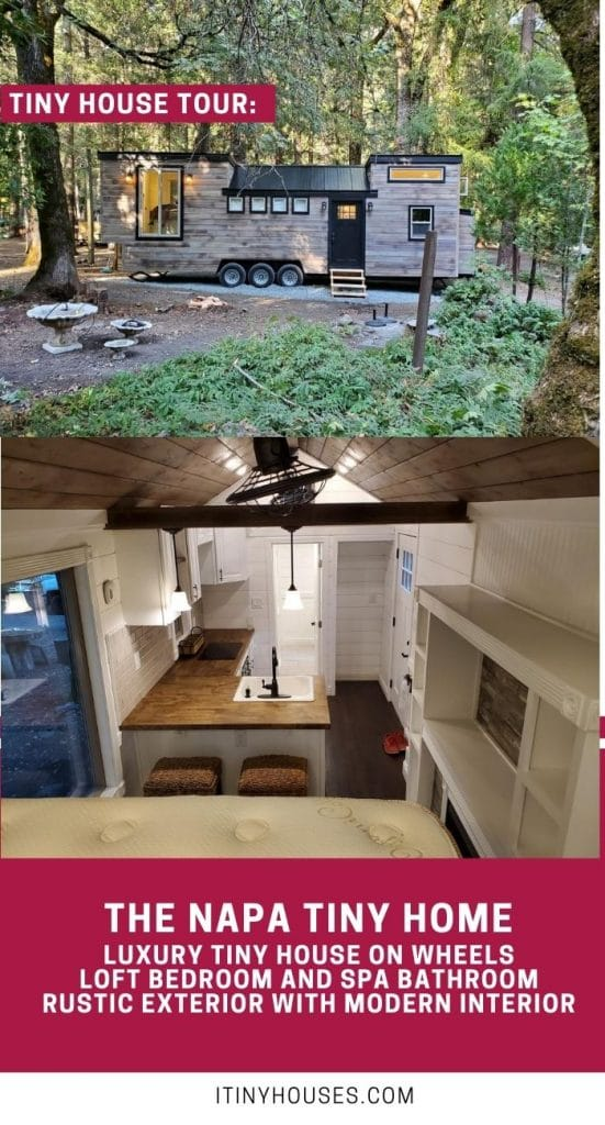 The Napa tiny house collage