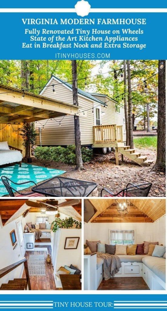 Virginia Rental Tiny House Collage