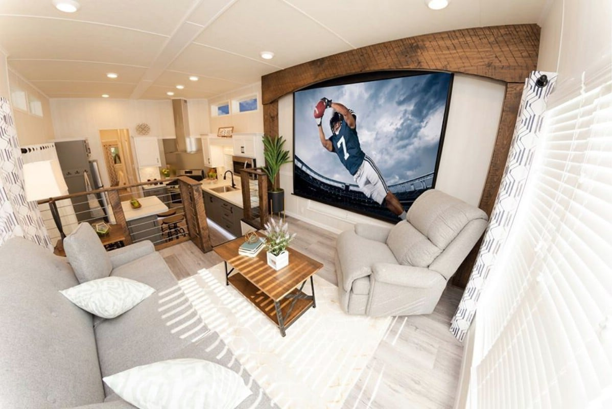 New Park Model Home Features Incredible Basement Storage