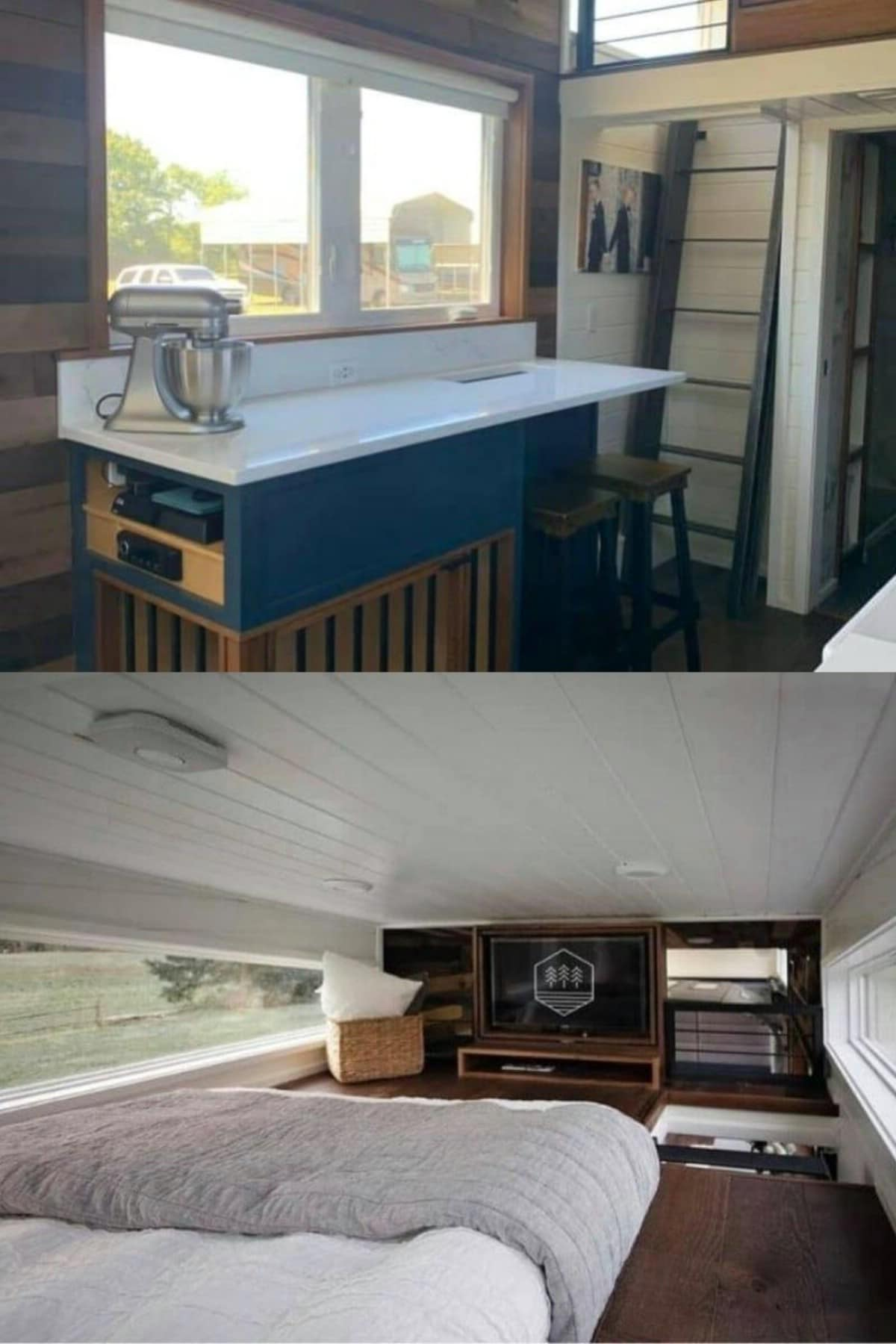Tiny House with Flip-Around TV