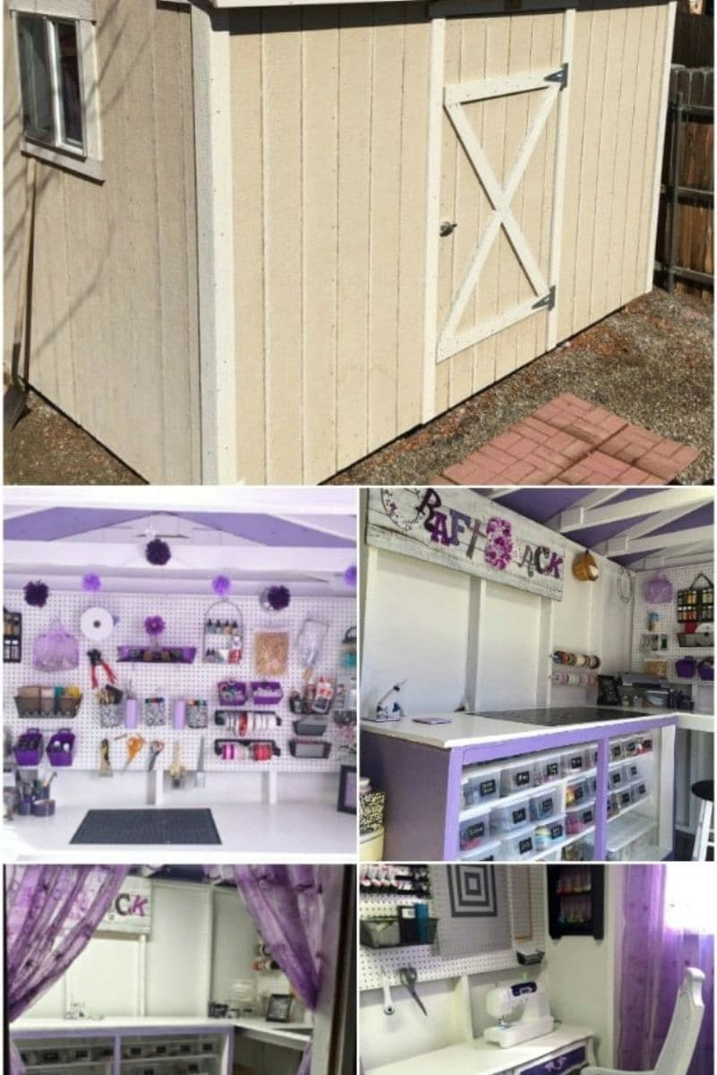 Pretty in Purple Crafting Shed