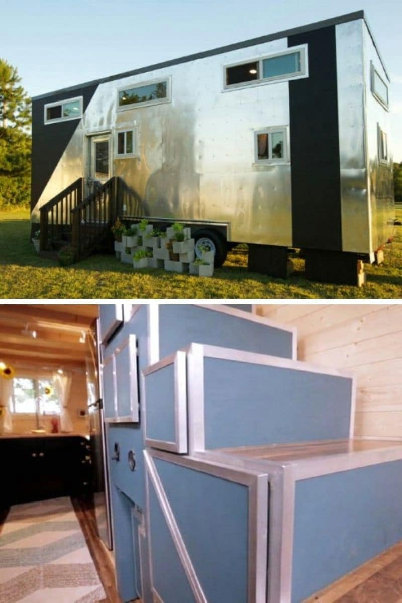 Tiny House with Hidden Desk