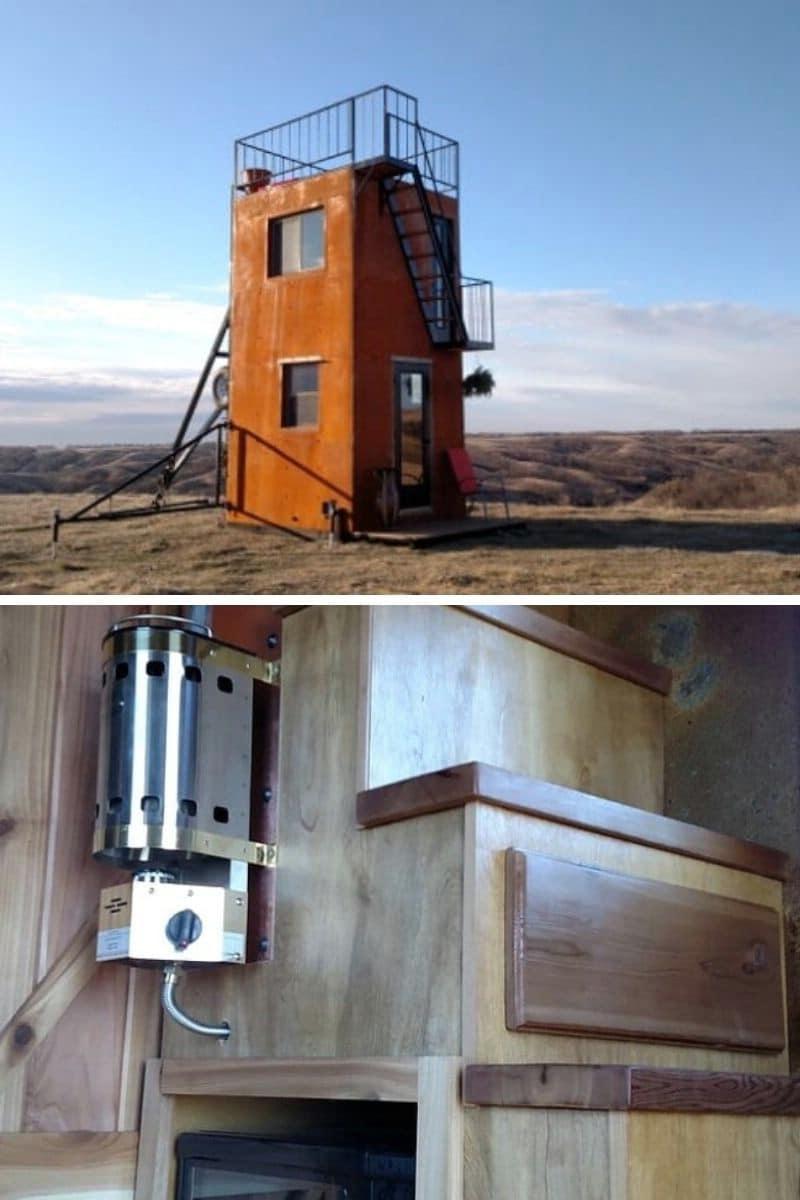 The Tilt Cabin: 160 ft.²