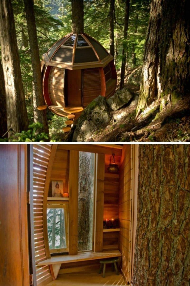 DIY Treehouse Built-in Secret