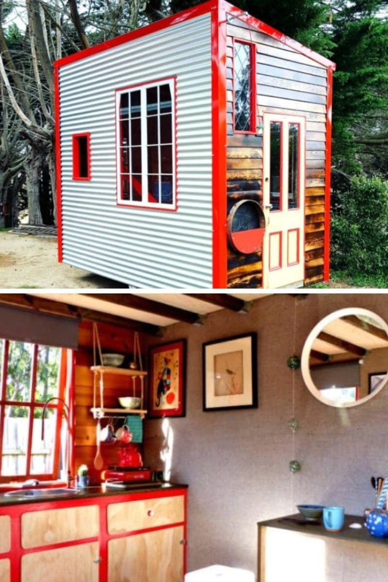 Lil Red Tiny House: 90 ft.²