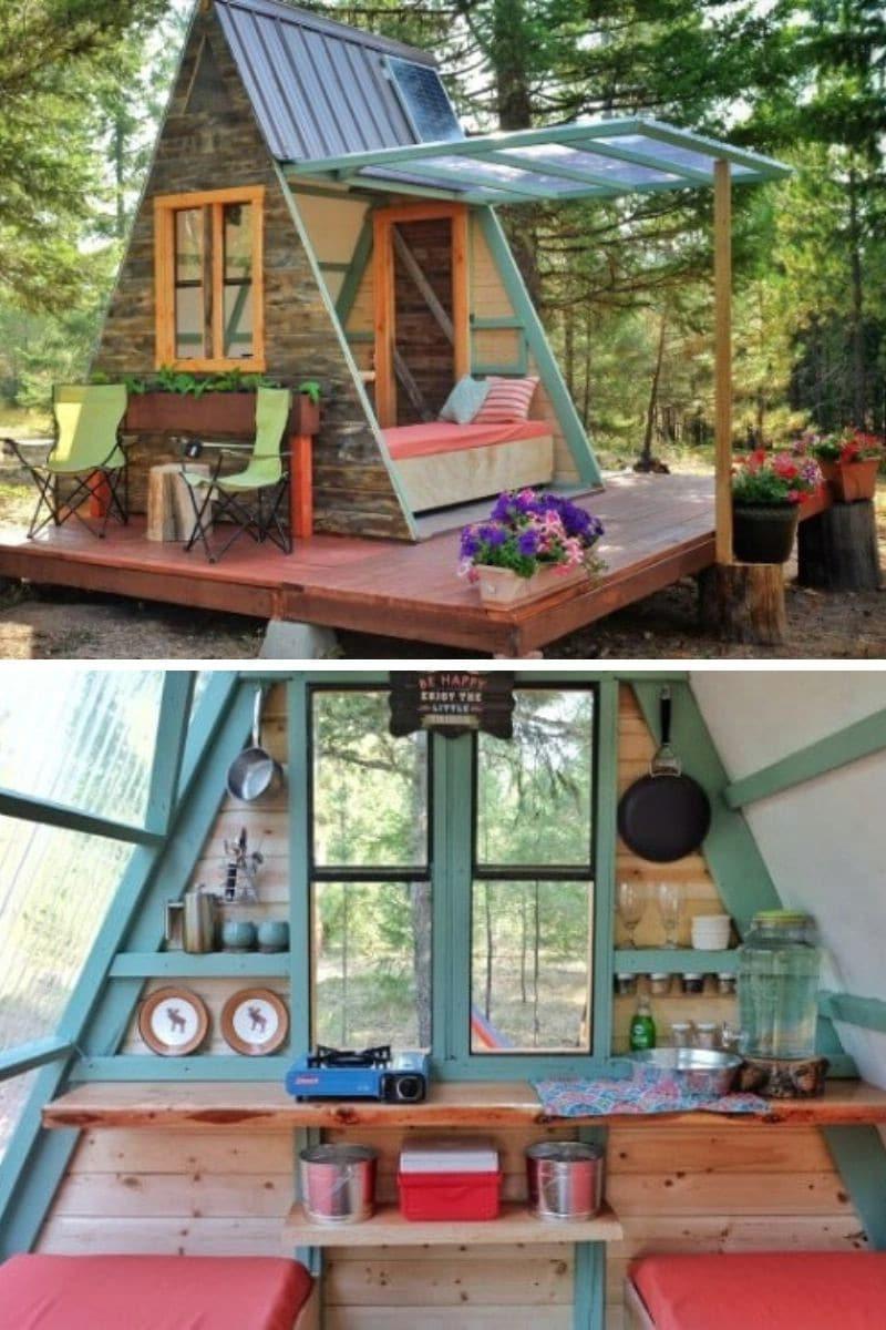 A-Frame DIY House: 80 ft.²