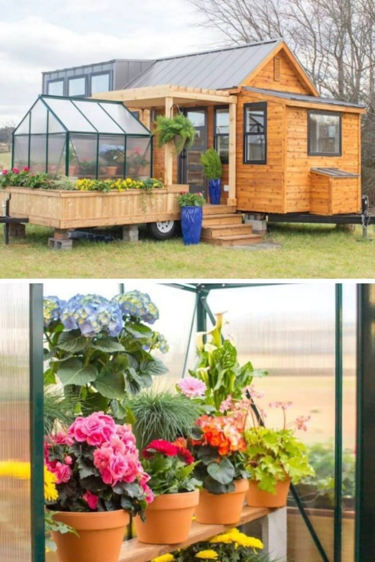 Tiny House with Attached Greenhouse