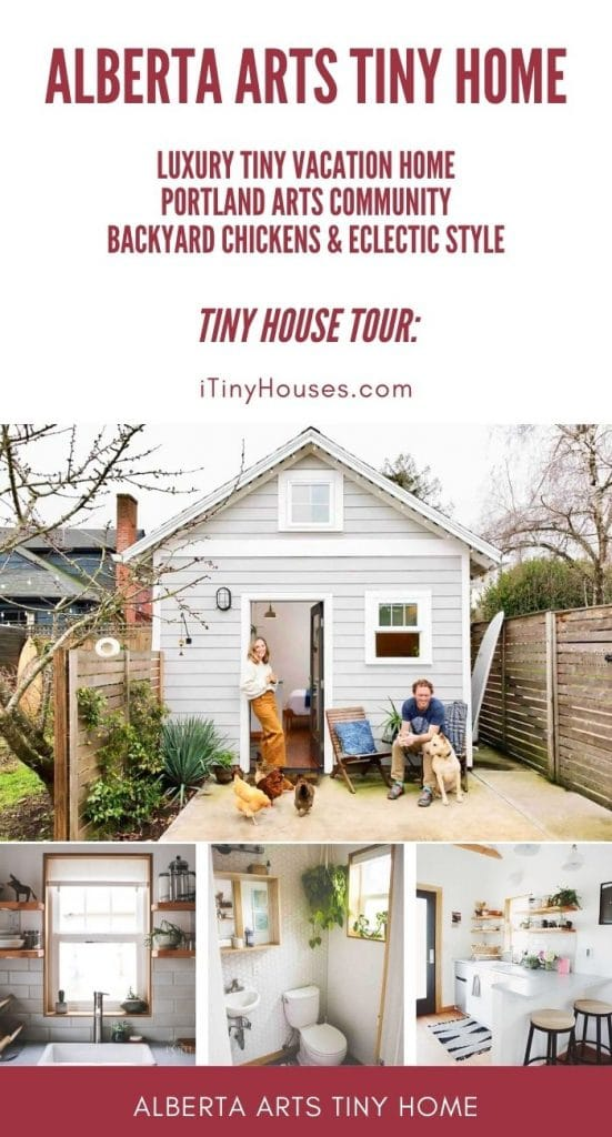 Alberta Arts tiny home collage