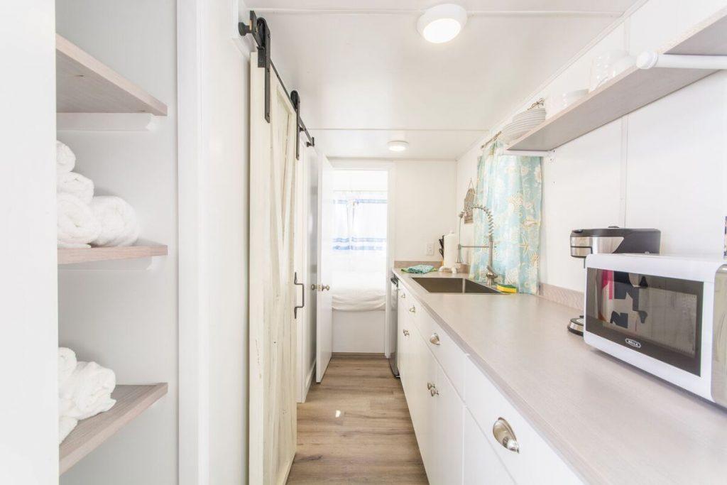 Galley kitchen view