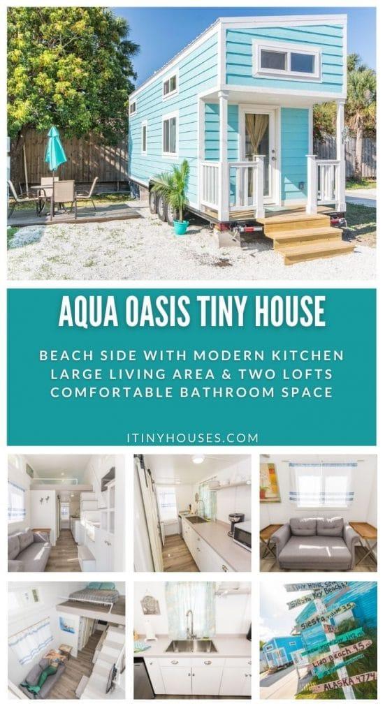 Aqua oasis tiny house collage