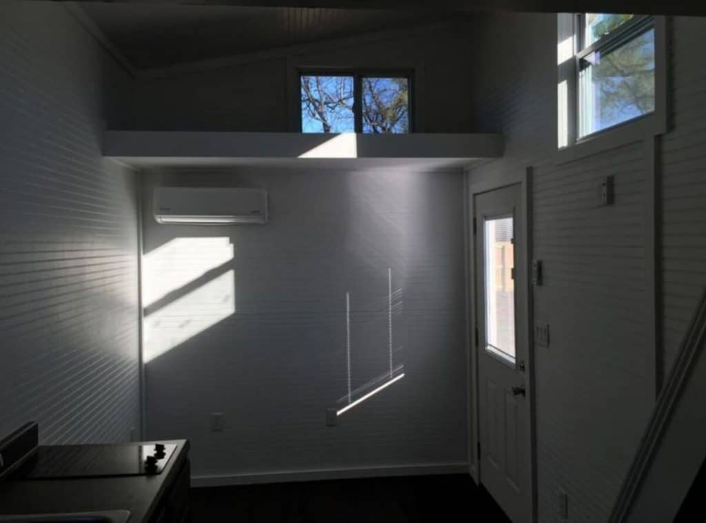 Living area loft storage
