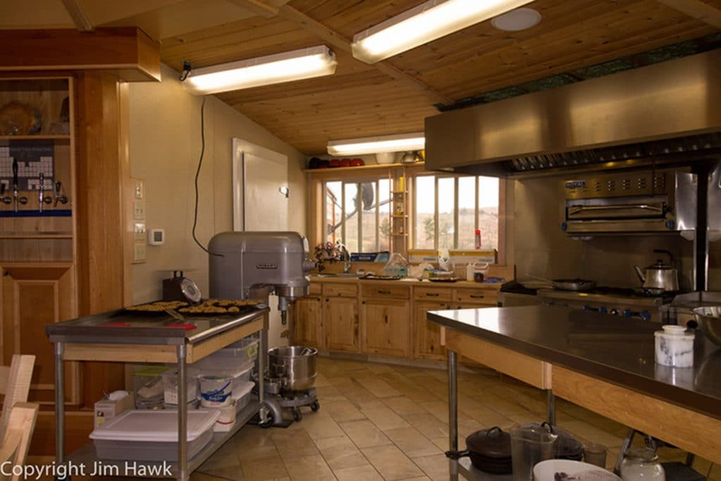 Gourmet kitchen in yurt