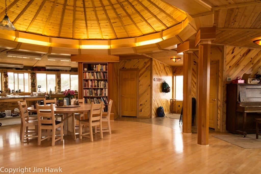 Living area in yurt