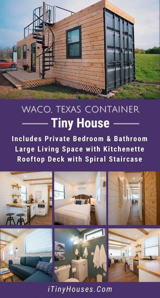 Waco Texas container tiny house collage