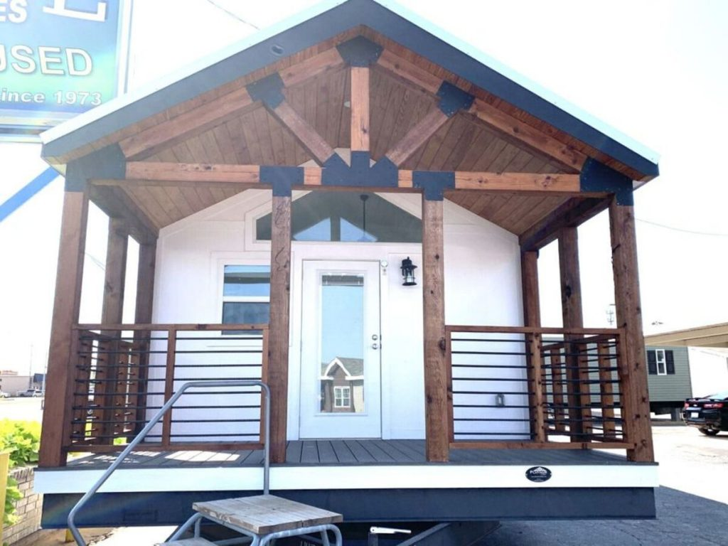 Front of tiny house porch