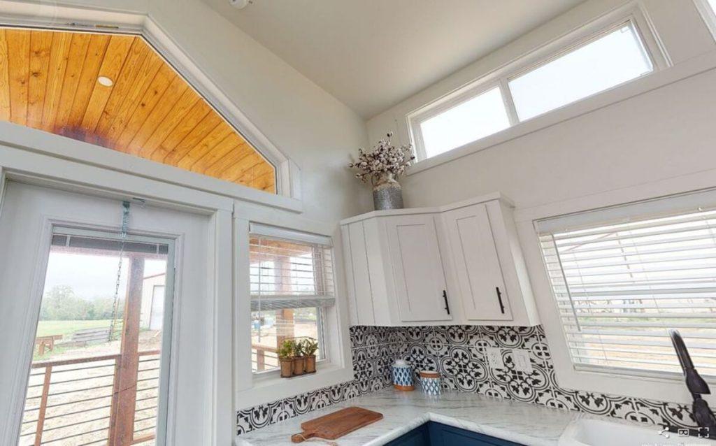 Large window above door