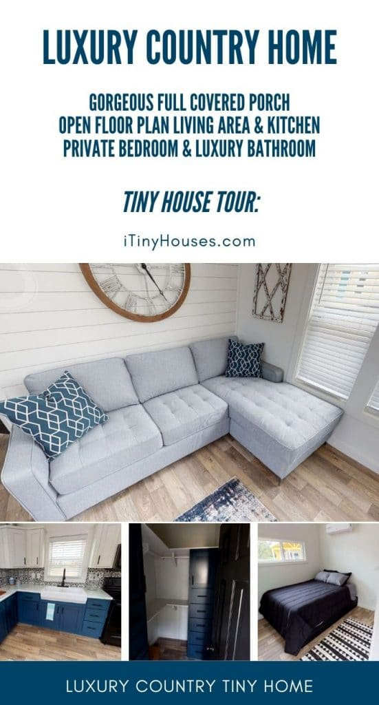 Country home tiny house collage