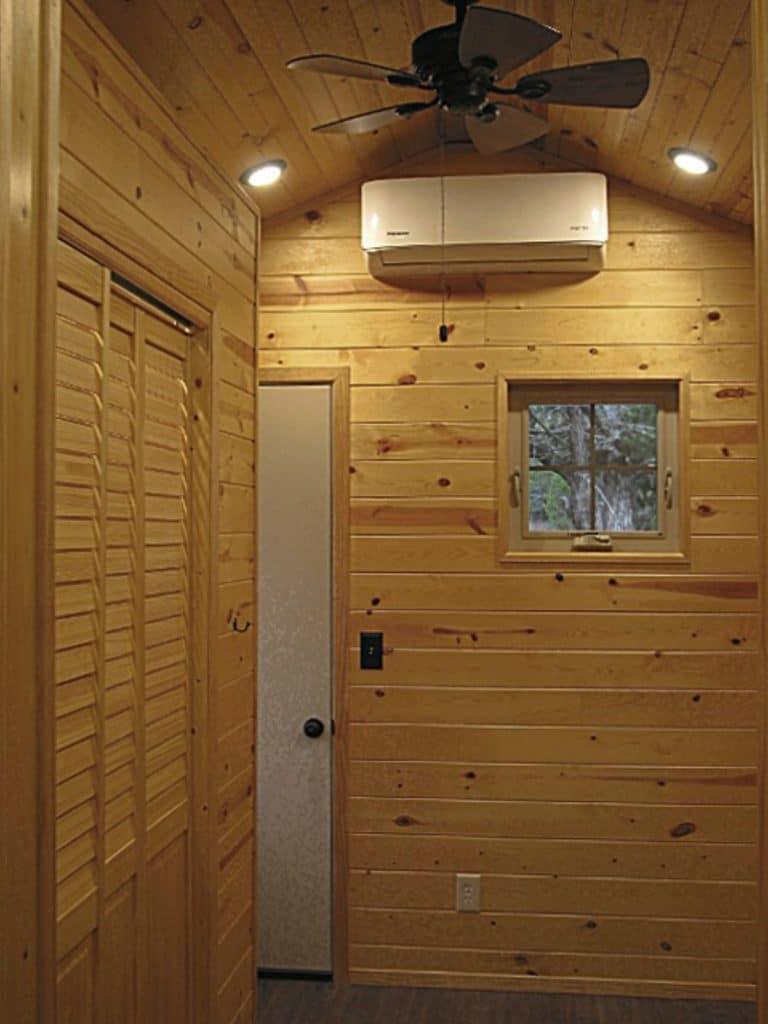 Slat doors in closet